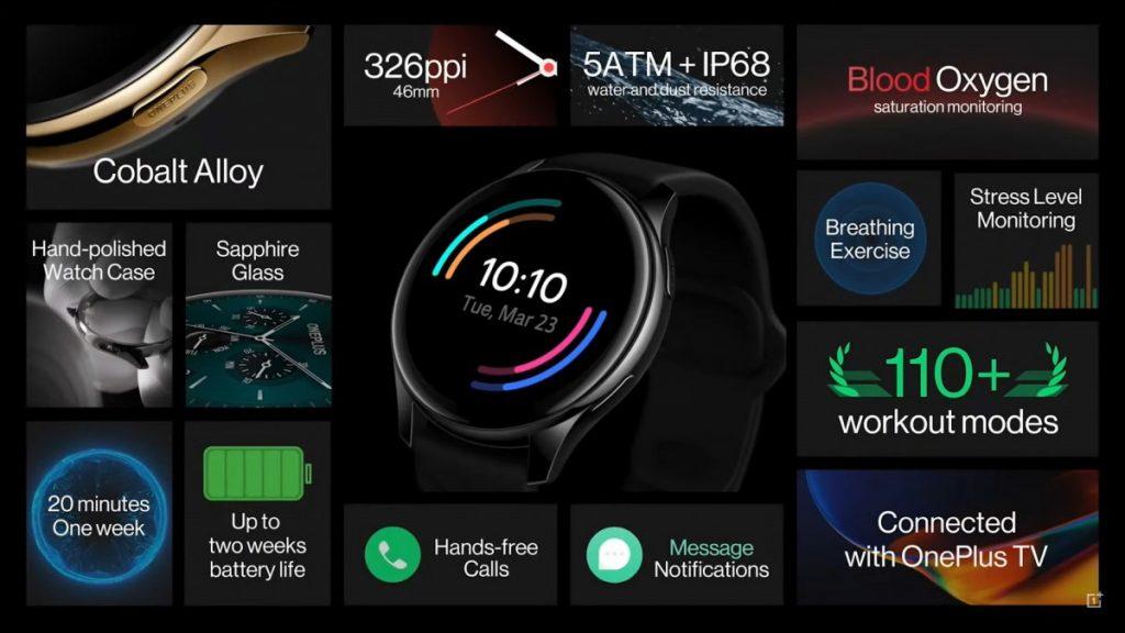 oneplus watch specs