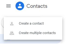 Create contacts