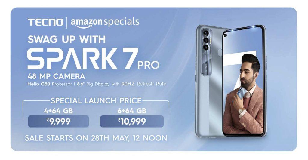 Tecno Spark 7 Pro Pricing