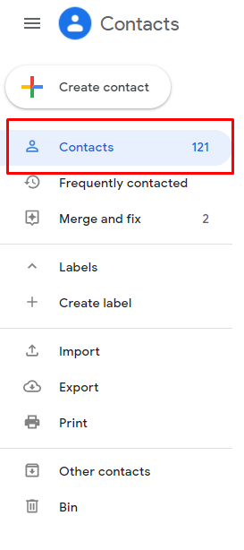 How to see contacts saved in Gmail