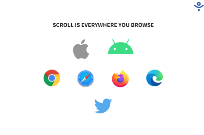 Scroll works in whichever browser you use, across all your devices.