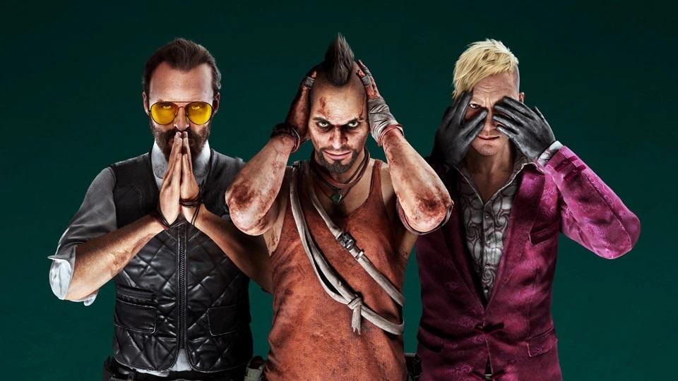 Far-Cry 6-Vaas Montenegro, Pagan Min, and Joseph Seed