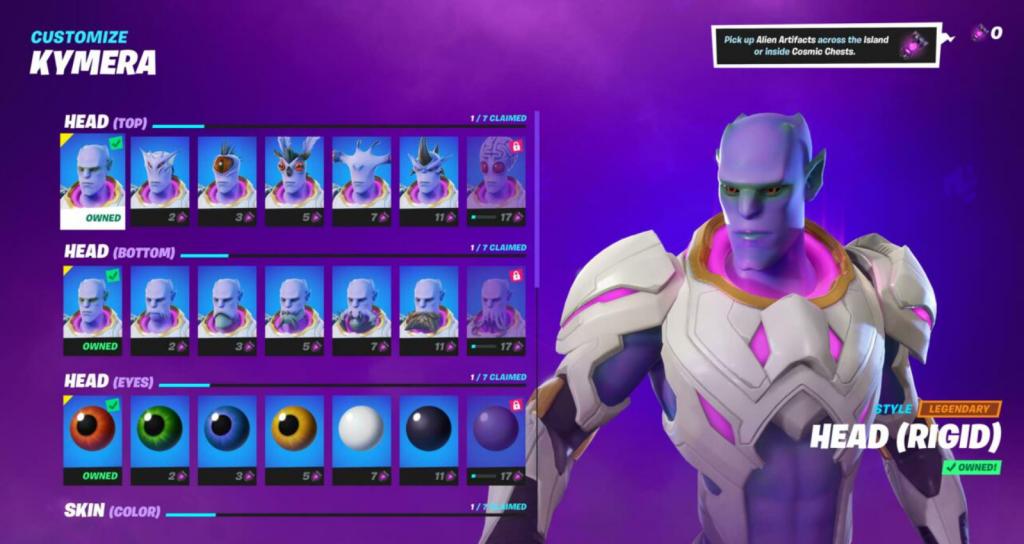 Kymera alien skin from the Battle Pass