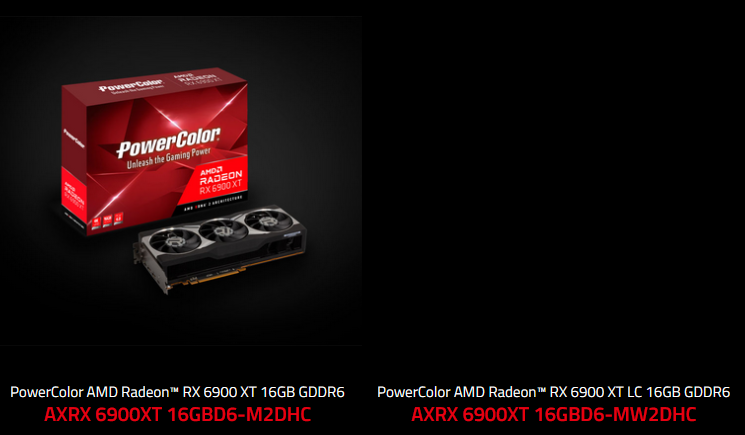 PowerColor Radeon RX 6900 XT LC Listed