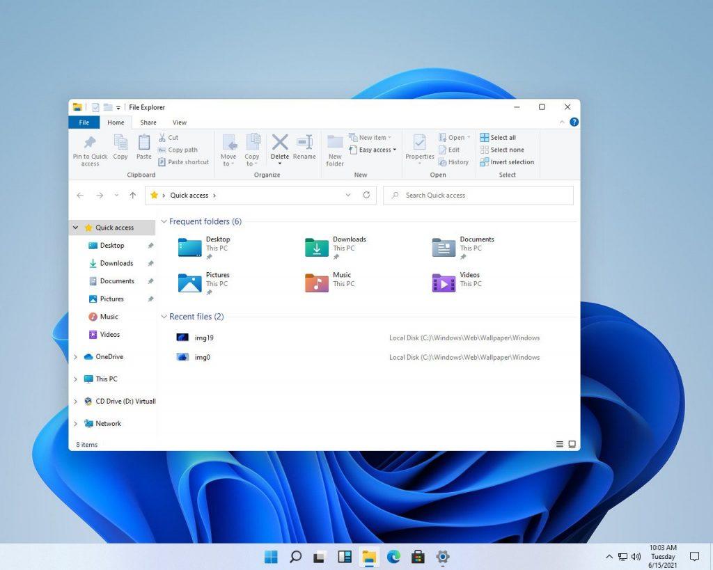 The File Explorer in Windows 11